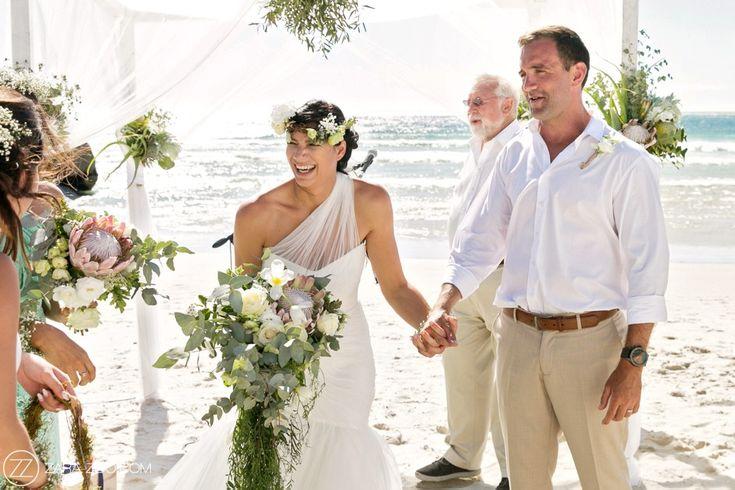 Wedding at Cape Point Vineyards - Beach wedding