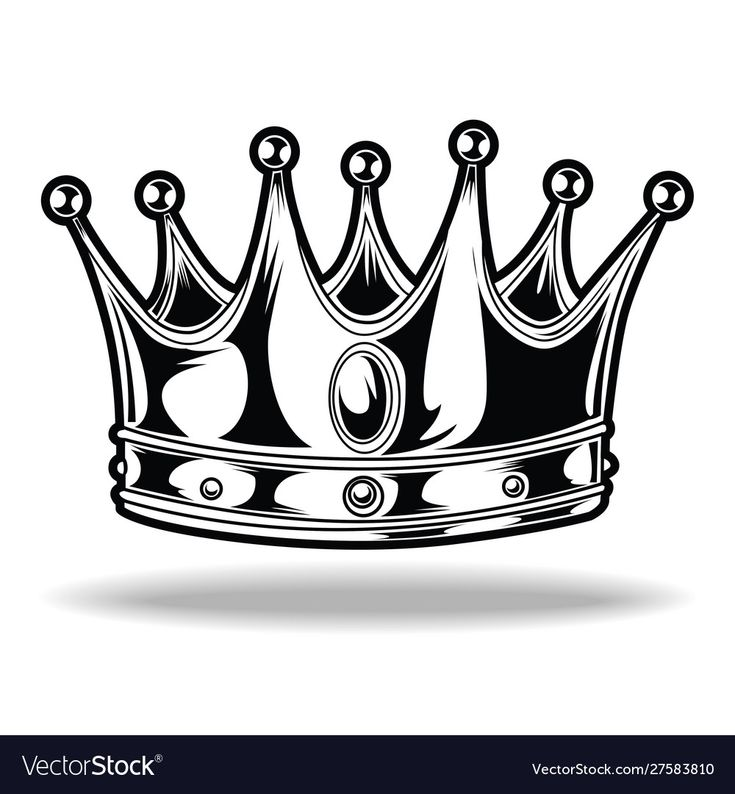 Download Crown black and white king queen 5 vector image on ...