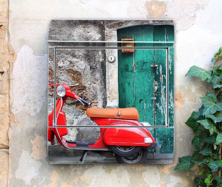 Briefkasten mit Zeitungsfach Italienischer Roller von banjado via dawanda.com