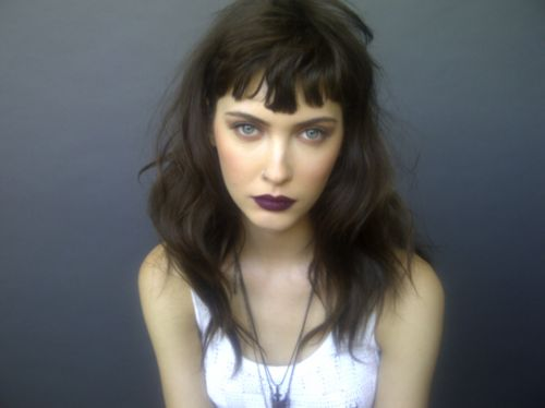 One of my all time favorite beauty looks, a smoldering eye with a deep plum lip.