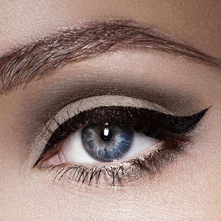 We love this smoky, winged eyeliner look using Crushed Ice and Cream PurePressed Eye Shadow, Onyx Mystikol and Black Jelly Jar Gel Eyeliner.