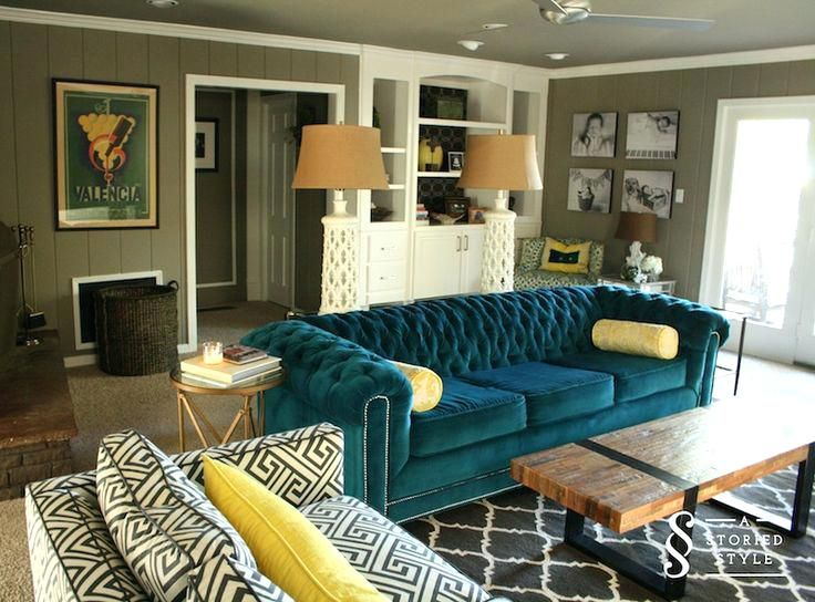 Architecture Teal Couch Living Room With Yellow Sofa How To In