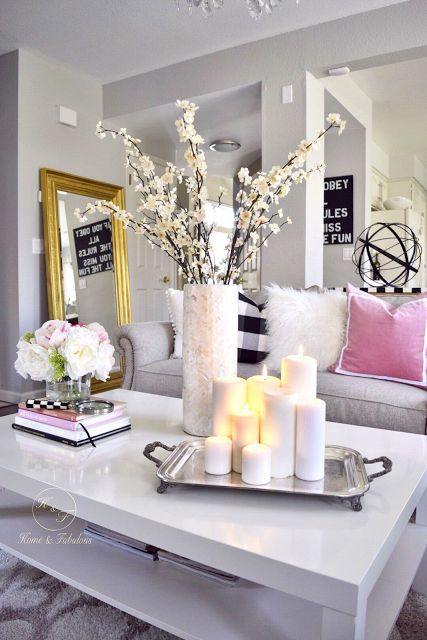 Decorating A Table best 25+ coffee table arrangements ideas on pinterest | coffee
