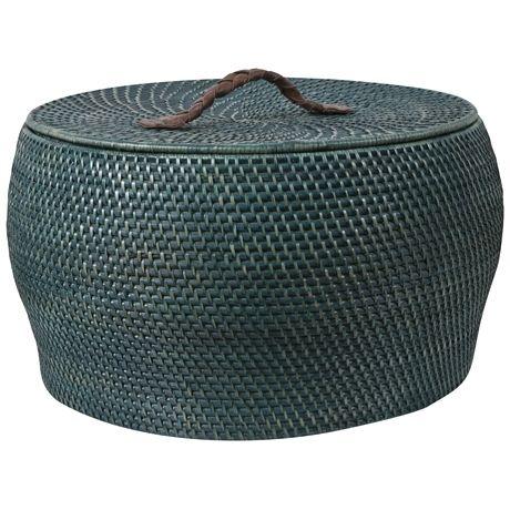 Rattle Basket (Lidded) 29cm   Freedom Furniture and Homewares