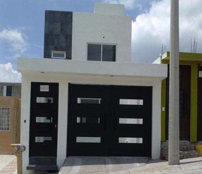 P es 1000 n pad na t ma fachadas de casa peque as na for Fachada de casas modernas con porton