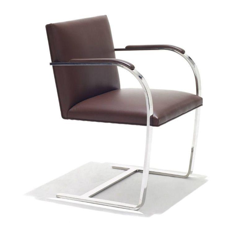 Bauhaus Design Chair / With Armrests / Steel / Chrome Steel BRNO Knoll  International