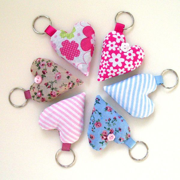 Lavender heart keyrings - pastels by apple cottage company, via Flickr