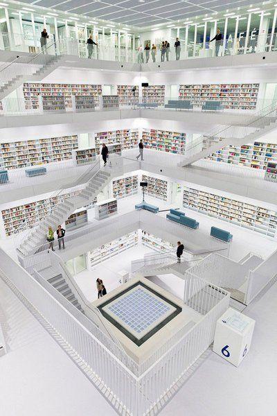 Top 30 libraries : Bibliothèque publique de Stuttgart, Allemagne