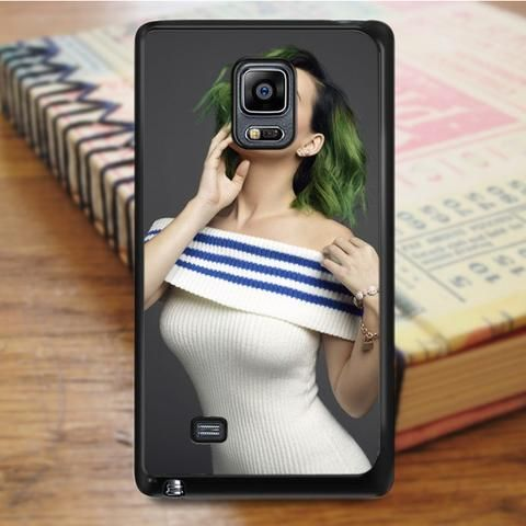 Katty Perry Green Hair Samsung Galaxy Note 4 Case
