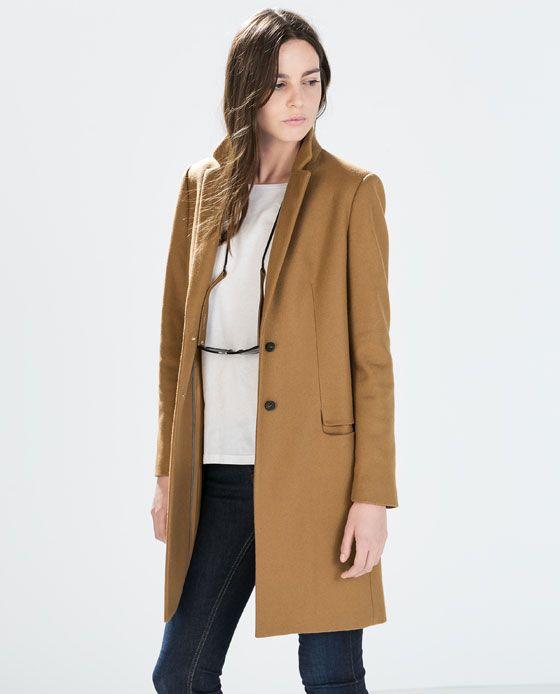 Image 3 of WOOL CAMEL COAT from Zara