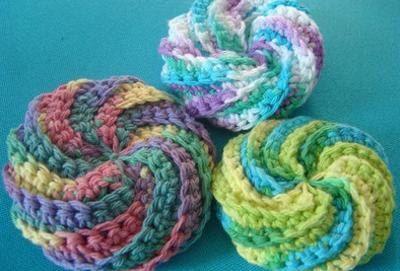 Crochet Tawashi Pot Scrubbers/Scourers/Sponges 100% Cotton Reusable Eco Friendly by BeyondTheSquare1 on Etsy https://www.etsy.com/listing/268972638/crochet-tawashi-pot