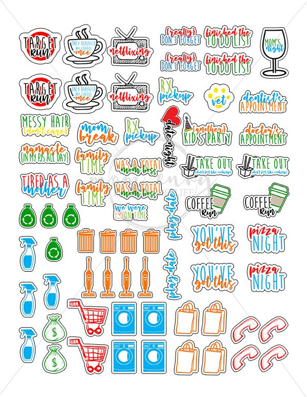 passion planner stickers holiday planner stickers Mom planner happy planner classic planner wood stickers Happy planner inserts