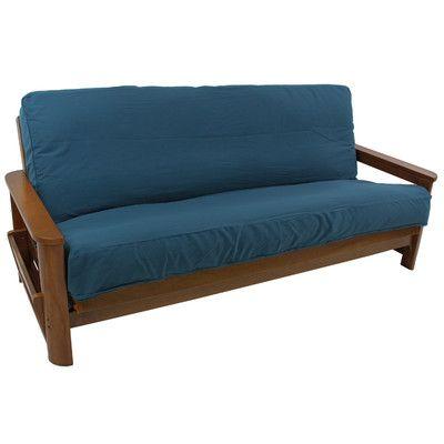 Cotton Standard Queen Futon Slipcover Upholstery: Burgundy - http://delanico.com/futons/cotton-standard-queen-futon-slipcover-upholstery-burgundy-590244964/