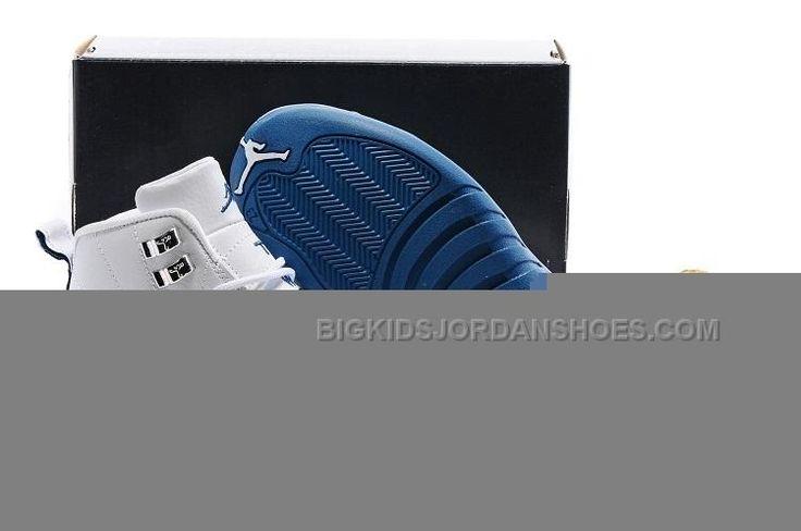http://www.bigkidsjordanshoes.com/kids-air-jordan-12-white-deep-blue-silvery.html Only$52.00 KIDS AIR #JORDAN 12 WHITE DEEP BLUE SILVERY #Free #Shipping!