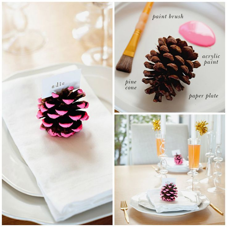 paint the ends of pine cones for simple and pretty christmas decorations or ornaments.