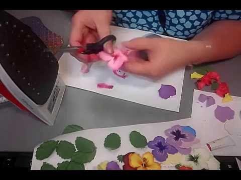 Создание анютиных глазок из фоамирана - YouTube