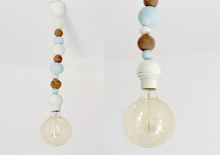 Chalk Paint on polystyrene balls creates an effective light feature