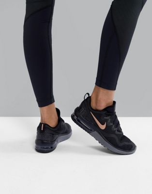 8f5ee6a9331 Nike Running Air Max Fury In Black And Rose Gold