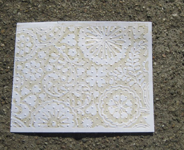 emboss with ink once, then go over it with a different embossing folder. this will give you the texture of the 2nd folder, and the pattern of the 1st.