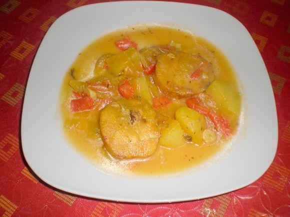 Receta de Pescado en salsa con patatas