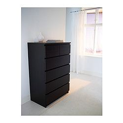MALM Chest   Black Brown   IKEA    Not Ideal In Construction Or Color But  The Price Is Right!