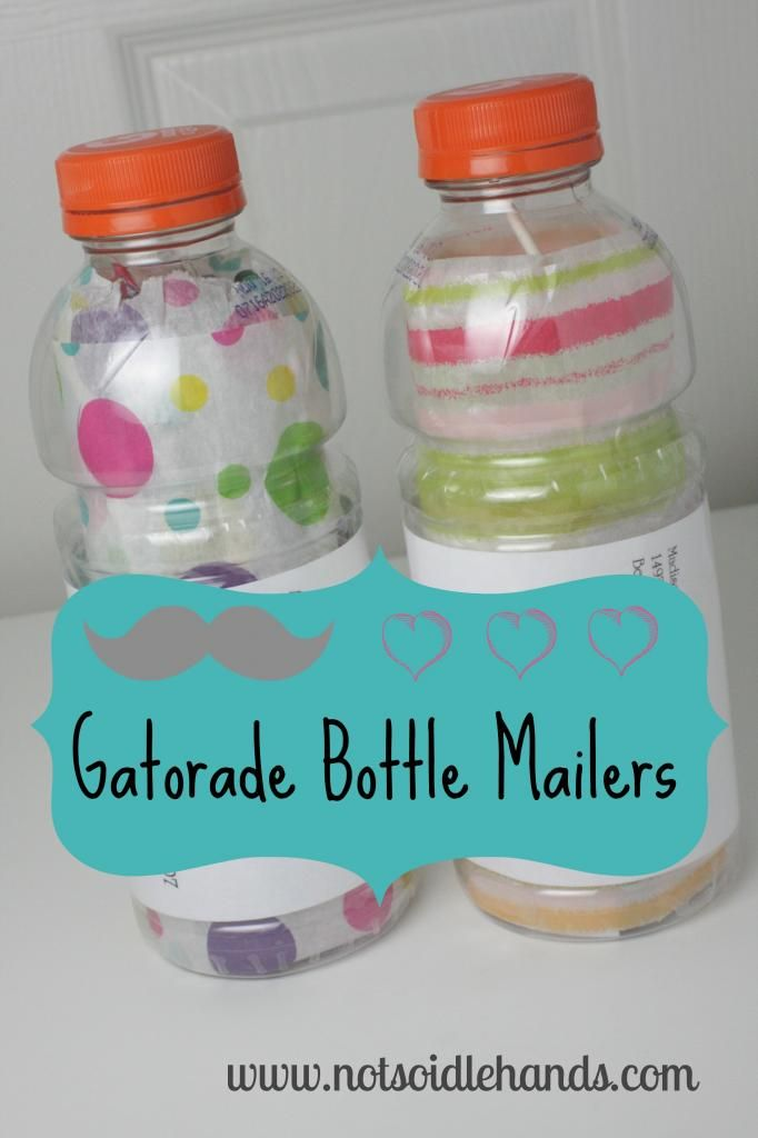 Gatorade Bottle Mailers by NotSoIdleHands.com