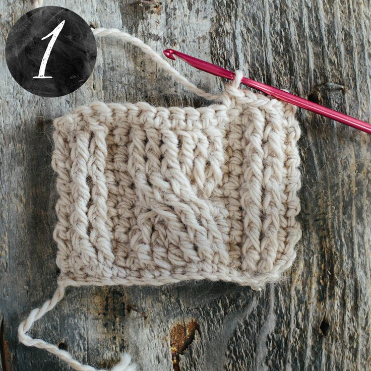 Crochet Stitches Raised Treble Front : method, using UK Raised Treble stitches (US Front Post Double Crochet ...