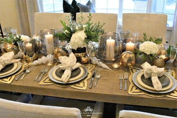 Inspiring Christmas Table Decoration Ideas Bordsdukning Dukning Nyarsafton