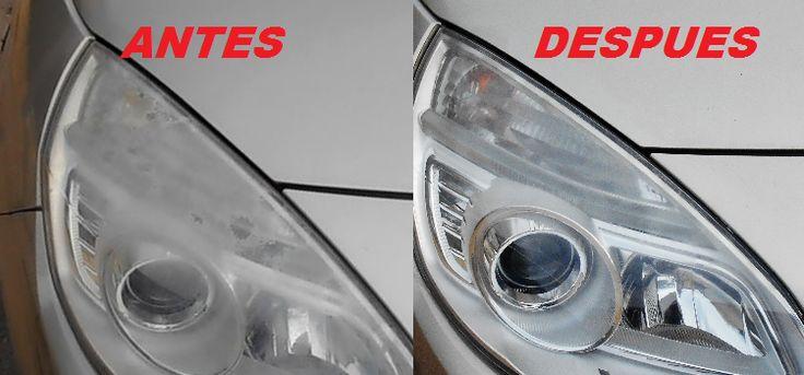 Cómo limpiar los faros del coche opacos