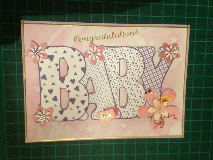 Baby Word Card. Suitable for a Newborn Girl.