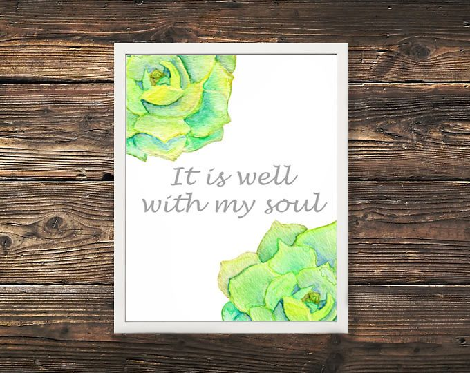 """""""It is Well With My Soul"""" Christian Bible Art Print  Browse unique items from WildNorthCreations on Etsy, a global marketplace of handmade, vintage and creative goods."""