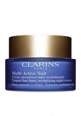 Clarins Men's Multi-Active Night Cream For Normal To Combination Skin Type - Black - One Size