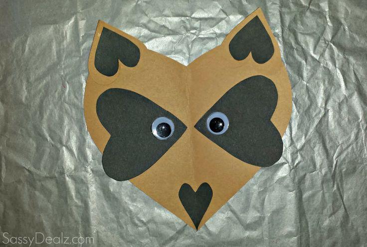 Paper heart raccoon craft for kids - Sassydeals com ...