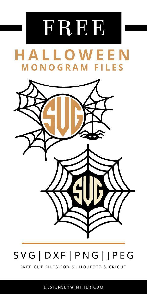 Download Spider Web Monogram Frame Cut File Set Crafter Files