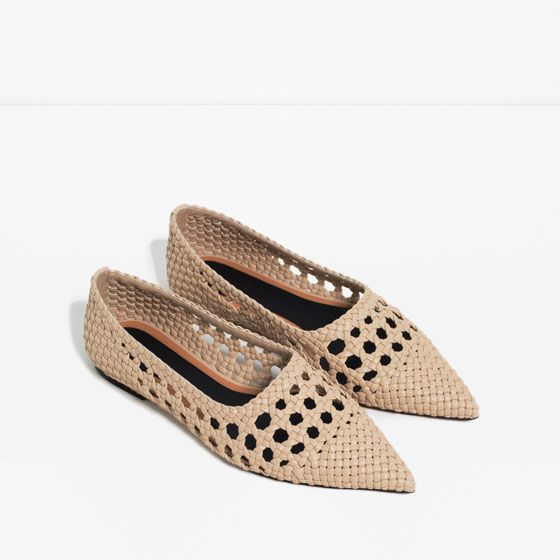 Image 3 of OPENWORK BALLET FLATS from Zara