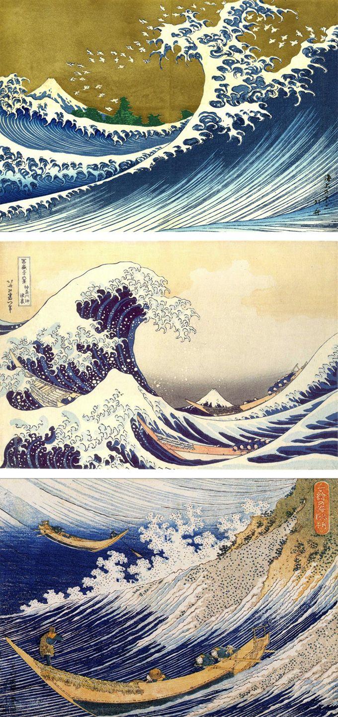 """""""Under the wave off Kanagawa"""" by  Katsushika Hokusai.  About 1830-1831.  Museum of Fine Arts, Boston."""