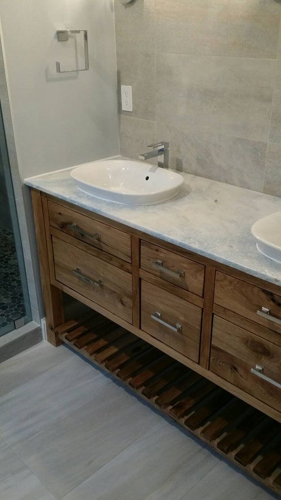 White Walnut Bathroom Vanity With Granite Top This Piece Features