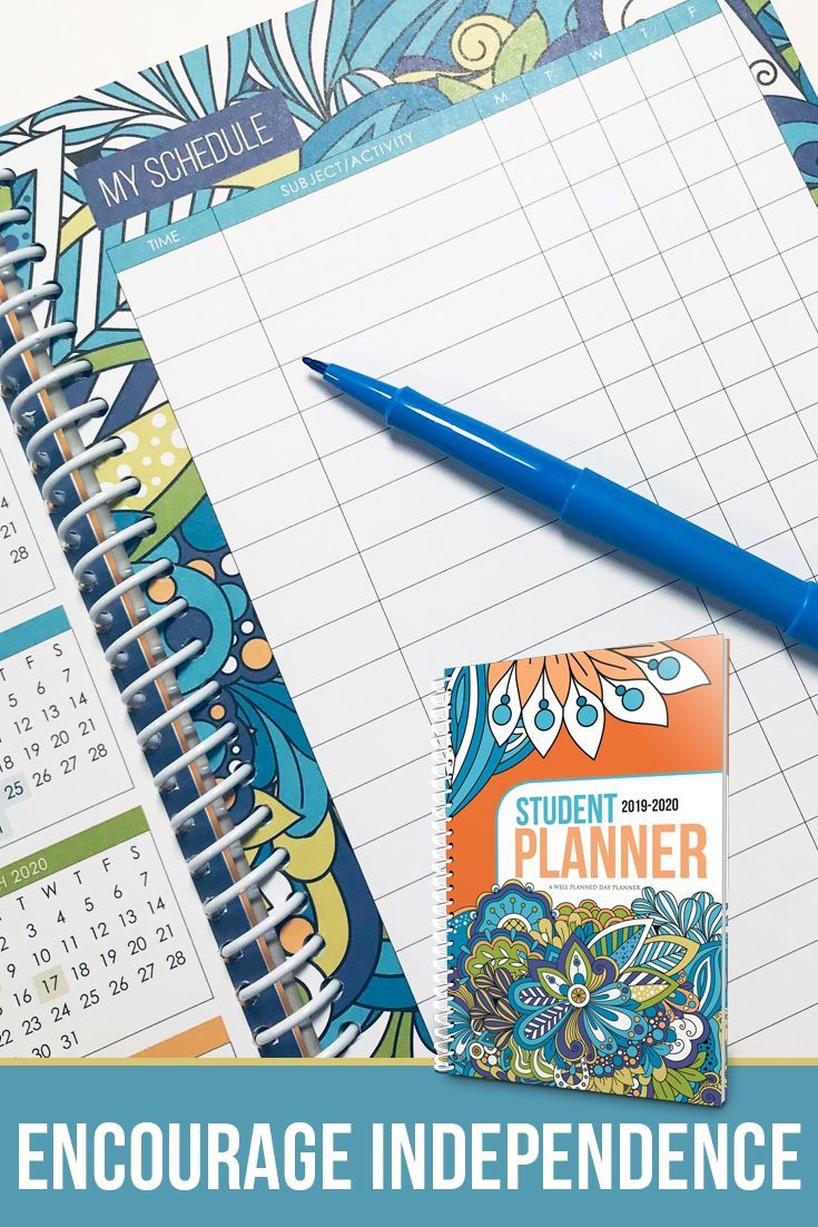 2019-2020 Student - Dazzling Doodles | Planning Your Day | Student