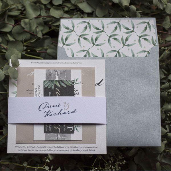 Nifty Studio Eucalyptus Wedding Invitation