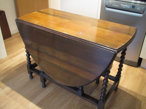 Dining Table Antique Drop Side Dining Table