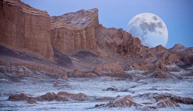 Valle de la luna Desierto de Atacama , Chile