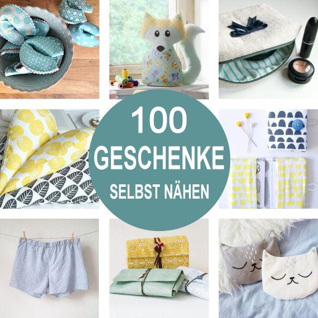 Geschenke selbst nähen! 100 kleine DIY Geschenkideen mit kostenloser Nähanleitung | DIY MODEDIY MODE