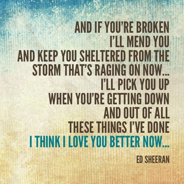 love this song lyrics ed sheeran lego house music