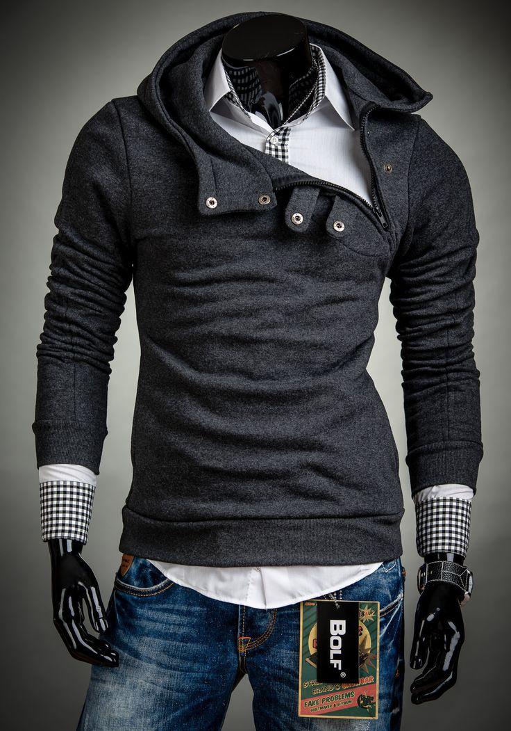 BLUZA MĘSKA BOLF 06 ANTRACYTOWA ANTRACYTOWY | On \ Bluzy męskie \ Bluzy z kapturem Promocje Produkty w menu | Denley - Odzieżowy Sklep internetowy | Odzież | Ubrania | Płaszcze | Kurtki