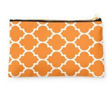 Orange Quatrefoil Pattern Studio Pouch