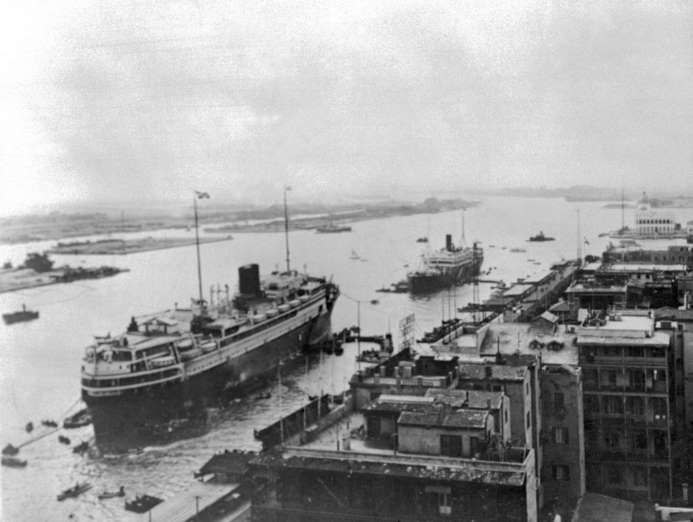 July 26,1956: EGYPT NATIONALIZES THE SUEZ CANAL  -   Egyptian President Gamal Abdel Nasser seizes the British and French-owned canal connecting the Mediterranean and Red Seas across Egypt, froze all assets of the Suez Canal Company and closed the canal to Israeli shipping. The move threatened Britain's economic and military interests and angered the French, who would band with Israel to invade Egypt during the Suez Crisis in October the same year.