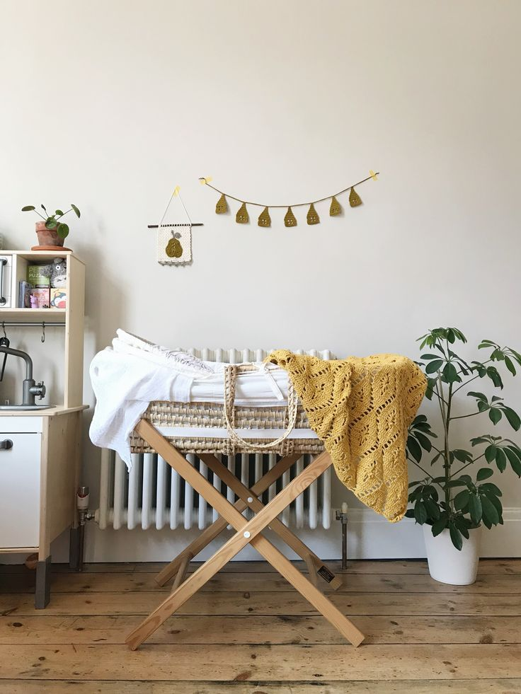 Made With Merino Wool And Cotton Blend Yarn This Mustard Yellow Baby Blanket Adds Mid Century Cool To Your Baby Furniture Baby Receiving Blankets Baby Yellow