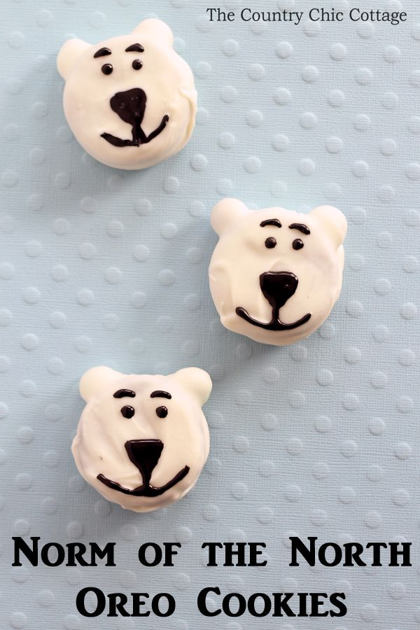 Norm of the North Cookies  - turn Oreo cookies into something special in minutes!  #normofthenorth  In partnership with Norm of the North movie.
