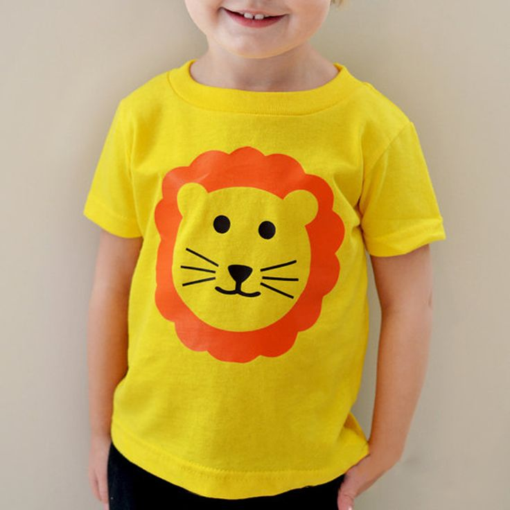 boys tops baby summer Children baby boys clothing kids clothes cotton gentleman lion bear T-shirt boys girls cartoon t shirts