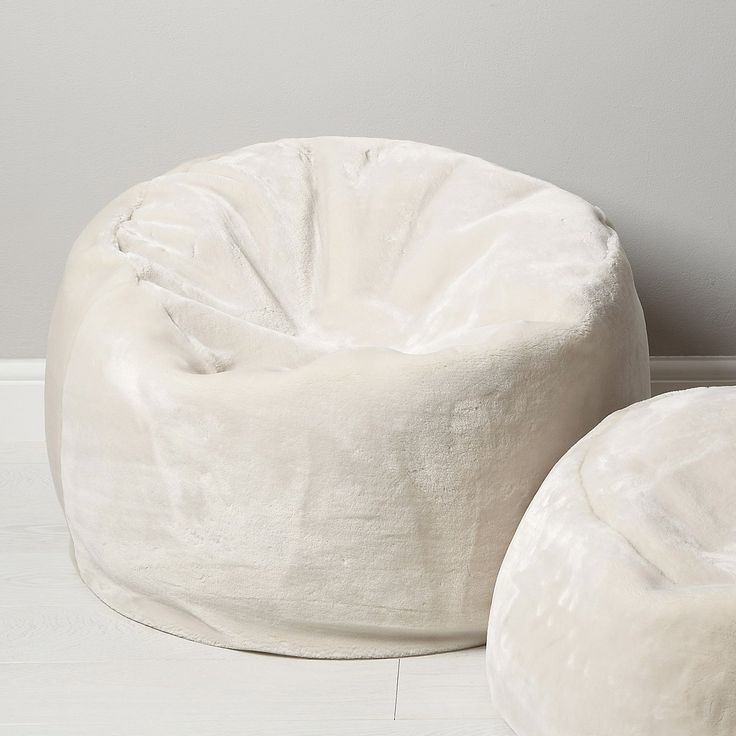 Luxury Faux Fur Beanbag - Large from The White Company